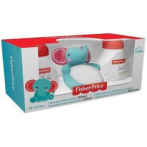Kit-Fisher-Price-Elefante-Shampoo---Condicionador---Saboneteira---Sabonete-Gratis