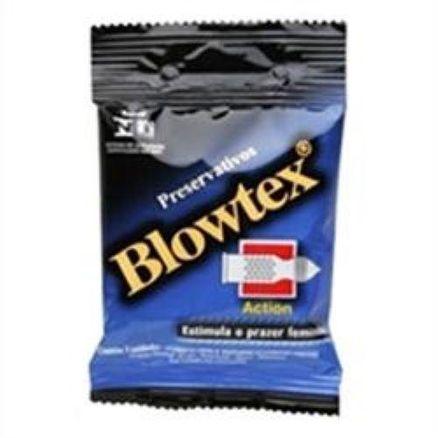Preservativo Blowtex Lubrificado Text Action 3 unidades