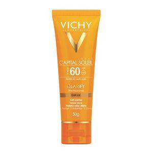 protetor-solar-vichy-capital-soleil-clarify-cor-fps-60-gel-creme-efeito-de-base-50g
