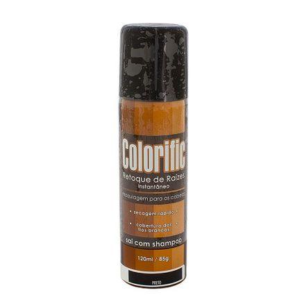 Colorific Retoque de Raízes Instantâneo Preto Spray 120ml