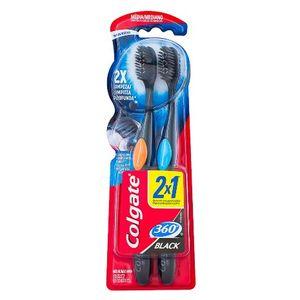 escova-dental-colgate-360-black-media-cabeca-compacta-cores-sortidas-leve-2-pague-1
