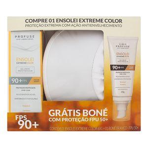 Kit-Protetor-Solar-Ensolei-Profuse-Extreme-Color-FPS-90-Gel-Creme-com-Efeito-de-Base-com-60g---Gratis-Bone
