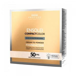 Base-Compacta-Ensolei-Compact-Color-Profuse-Bege-Translucido-FPS-50-com-10g