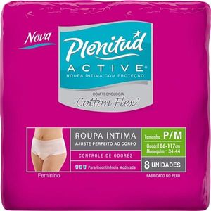 Roupa-Intima-Plenitud-Active-Mulher-Cotton-Flex-P-M-8-unidades
