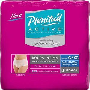 Roupa-Intima-Plenitud-Active-Mulher-Cotton-Flex-G-XG-8-unidades