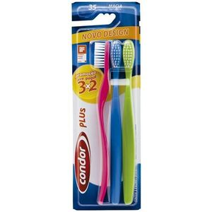 Escova-Dental-Condor-Plus-Macia-Media-Leve-3-Pague-2