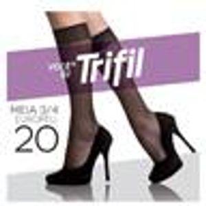 Meia-3-4-Trifil-Europeu-Fio-20-Preto-Tamanho-Unico