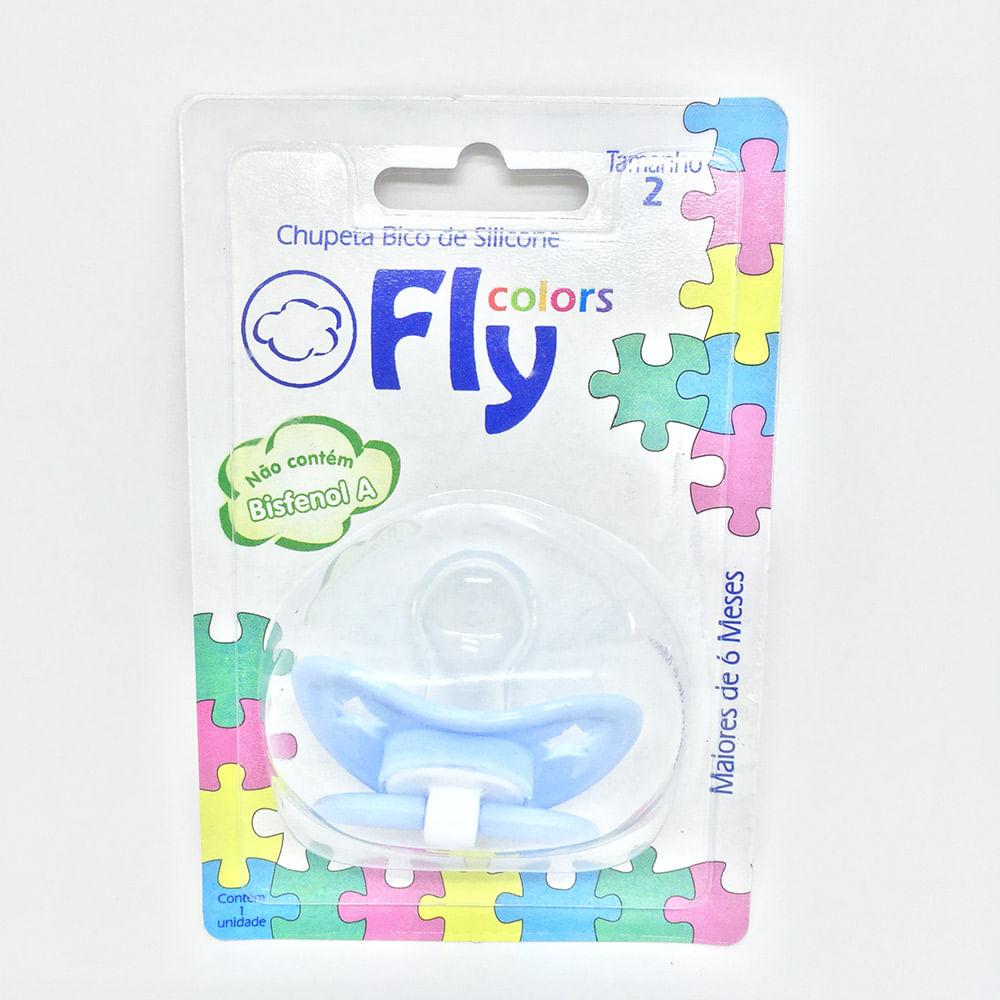 1064318fa9 Chupeta Fly Colors Silicone Ortodôntico Azul Claro + 6 meses Tam 2