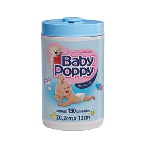 lenco-umedecido-baby-poppy-azul-150-unidades