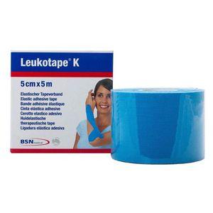 Fita-de-Kinesio-Bandagem-Adesiva-Leukotape-K-Azul-5cmx5m