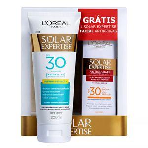 protetor-solar-l-oreal-solar-expertise-supreme-protect-fps-30-locao-200ml-gratis-1-solar-expertise-antirrugas-50g