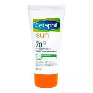 Protetor-Solar-Cetaphil-Sun-Ultra-Matte-e-Oil-Control-com-Cor-FPS-70-Gel-Creme-50ml