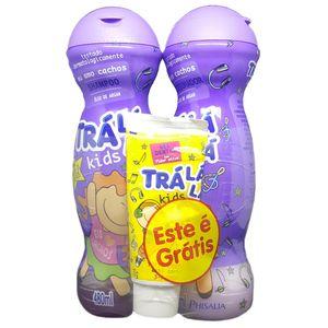 Kit-Tra-La-La-Kids-Shampoo---Condicionador---Gratis-Gel-Dental-Tra-La-La-Kids