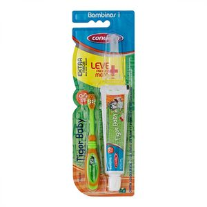 kit-escova-dental-massageadora-creme-dental-condor-tigor-baby-extra-macia-0-2-anos