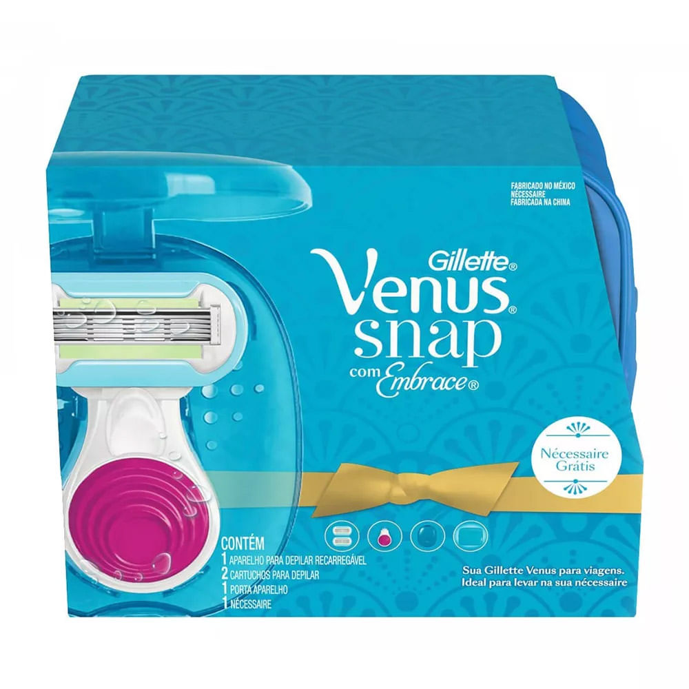619248e263 Kit de Depilacao Gillette Venus Snap com Embrace + Gratis Necessaire -  Farma 22