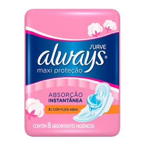 absorvente-always-maxi-protecao-cobertura-suave-abas-8-unidades
