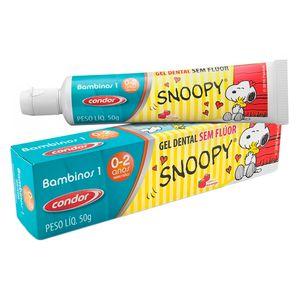 gel-dental-infantil-condor-snoopy-bambinos-1-sem-fluor-sabor-morango-50g