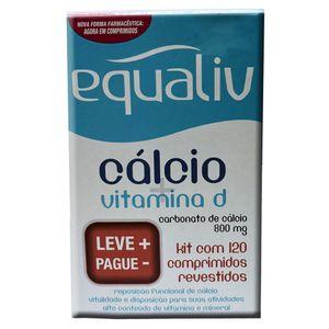 Kit-Equaliv-Calcio---Vitamina-D-2-Unidades-de-60-comprimidos-revestidos