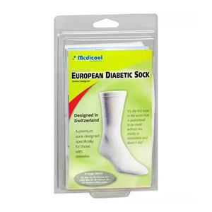 Meia-para-Diabeticos-European-Diabetic-Socks-Medicool-Branca-Tamanho-G--41-44-