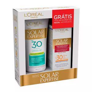 Protetor-Solar-L-oreal-Solar-Expertise-Supreme-Protect-FPS-30-Locao-200ml---Gratis-Solar-Expertise-Facial-Antirrugas-25g