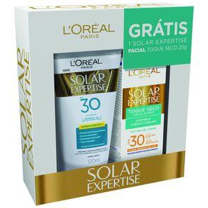 Protetor-Solar-L-oreal-Solar-Expertise-Supreme-Protect-FPS-30-Locao-120ml---Gratis-Solar-Expertise-Facial-Toque-Seco-25g