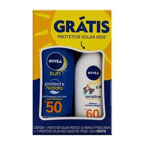 Protetor-Solar-Nivea-Sun-Protect---Hidrata-FPS-50-Locao-200ml---Gratis-Protetor-Solar-Kids-FPS-60-125ml