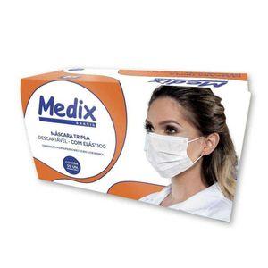 mascara-cirurgica-tripla-descartavel-medix-com-elastico-50-unidades