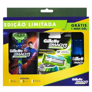 kit-aparelho-de-barbear-gillette-mach3-sensitive-1-unidade-2-cartuchos-gillette-mach3-sensitive-gratis-gel-de-barbear-71g
