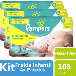 Kit-Fralda-Pampers-Preemie-Swaddlers-Prematuro-108-unidades-