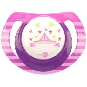 chupeta-neopan-bico-de-silicone-ortodontica-tamanho-1-circo-rosa-ref-4837