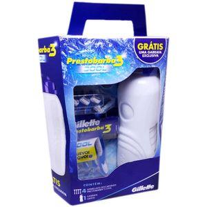 Kit-Aparelho-de-Barbear-Gillette-Prestobarba-3-Cool-4-Unidades---Gratis-Garrafa