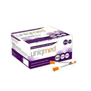 Caixa-Seringas-para-Insulina-com-Agulha-Uniqmed-30G-03ml--8x030mm--100-Unidades-