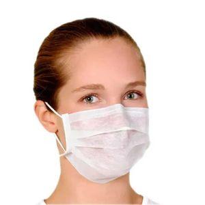Máscara Cirúrgica Tripla Descartável Farmatex Com Elástico 50 Unidades