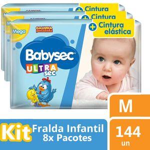 FRALDA-BABYSEC-GALINHA-PINTADINHA-ULTRASEC-M-18-UNs