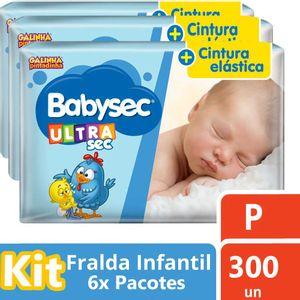 Kit-Fralda-Babysec-Galinha-Pintadinha-Ultrasec-Mega-P-300-Unidades