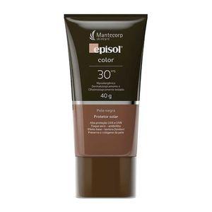 Protetor-Solar-Episol-Color-Pele-Negra-FPS-30-Locao-com-Efeito-de-Base-40g