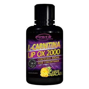 L-Carnitina-Power-Supplements-Lip-Ox-2000-Abacaxi-480ml