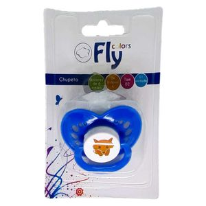 Chupeta Fly Colors Bico de Silicone Ortodôntica Tamanho 2 Soft Cores Sortidas Ref 611