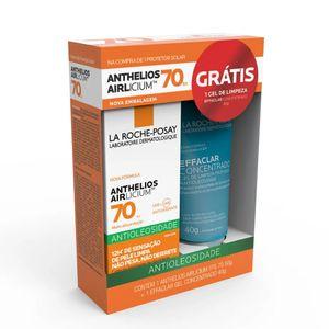 Kit-Protetor-Solar-Anthelios-Airlicium-FPS-70-Antioleosidade---Gratis-Gel-Concentrado-Effaclar-40g-La-Roche-Posay