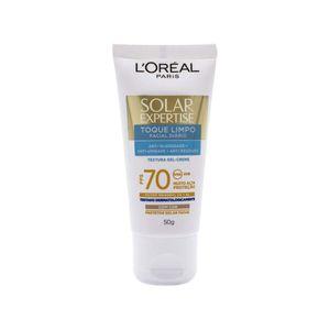 protetor-solar-facial-l-oreal-solar-expertise-toque-limpo-com-cor-fps-70-gel-creme-50g