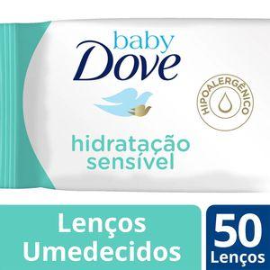 lenco-umedecido-dove-baby-hidratacao-sensivel-50-unidades