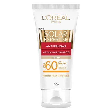 Protetor-Solar-Facial-L-Oreal-Expertise-Antirrugas-Com-Cor-FPS-60-50g