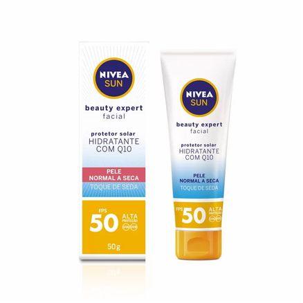 Protetor-Solar-Nivea-Sun-Beauty-Expert-Facial-Pele-Normal-A-Seca-FPS-50-Toque-de-Seda-50g