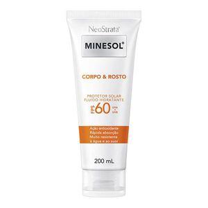Protetor-Solar-Fluido-Hidratante-Neostrata-Minesol-Rosto-Corpo-FPS-60-200ml