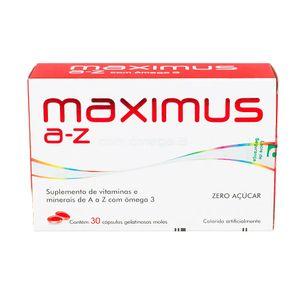 Maximus-A-Z-com-Omega-3-30-capsulas-gelatinosas-moles