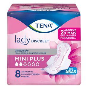 absorvente-geriatrico-tena-lady-discreet-mini-plus-com-abas-8-unidades