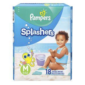 Fralda Pampers Splashers para Praia e Piscina M 18 Unidades