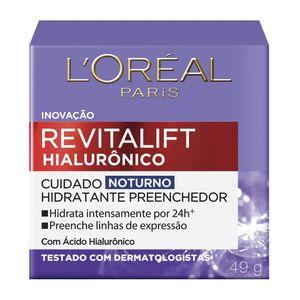 Revitalift-Hialuronico-L-oreal-Hidratante-Preenchedor-Noturno-49g