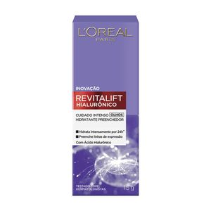 Revitalift-Hialuronico-L-oreal-Hidratante-Preenchedor-para-Olhos-15g