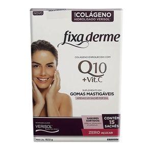 Colageno-Hidrolisado-Fixa-Derme-Q10---Vit.-C-15-Saches-com-3-Gomas-Mastigaveis-em-cada